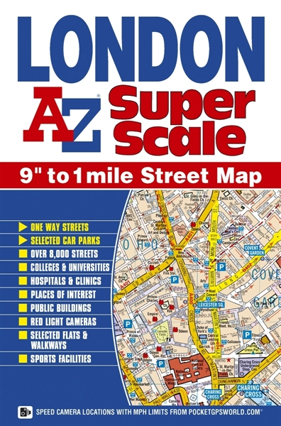 Az Street Map Of London.London Super Scale Maptourist Maps Tour City Street Mapsa Z Maps