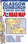 Glasgow, Edinburgh and Central Scotland Road Map