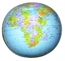 Inflatable Political World Globe 27 Inch