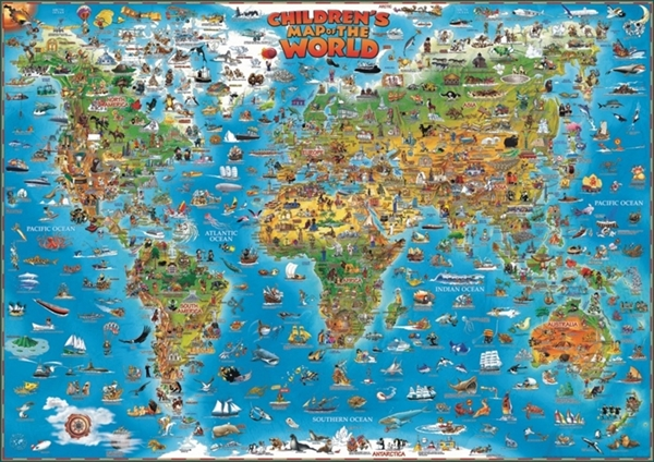 Childrens Map of the WorldWall Maps - Large World Map Posters ...