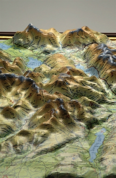 relief map of lake district Lake District Raised Relief Mapraised Relief Maps Uk Relief Maps Maps Of The World Dorrigo Maps Atlas Travel Guides relief map of lake district