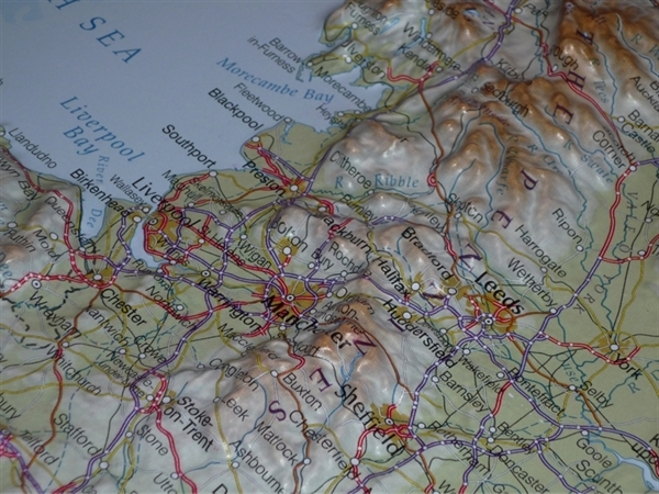 3d Relief Map Of Uk.Northern England Raised Relief Mapraised Relief Maps Uk Relief