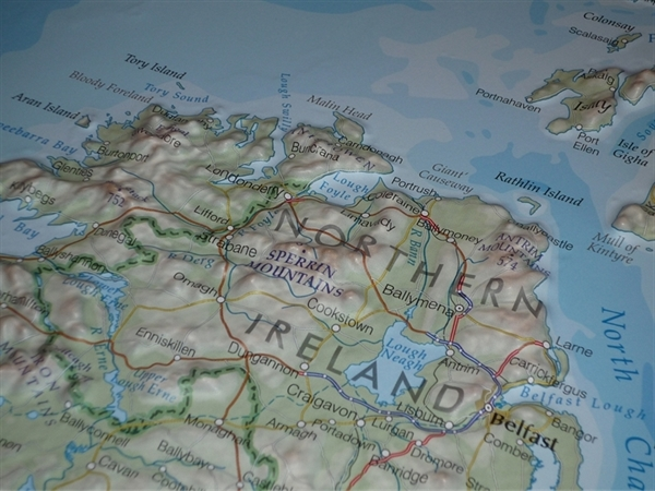 3d Relief Map Of Uk.Northern Ireland Raised Relief Mapraised Relief Maps Uk Relief