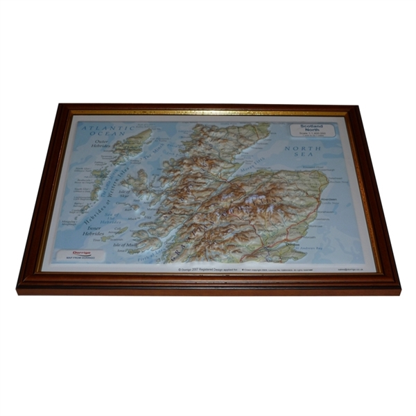 Northern Scotland Raised Great Polish Map Relief Maps