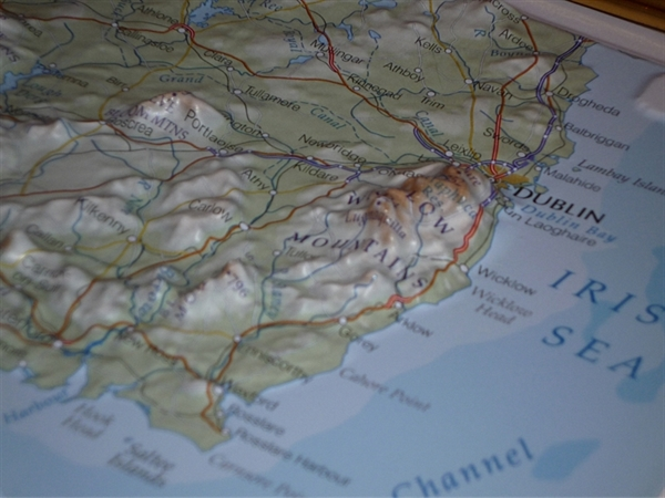 3d Relief Map Of Uk.Southern Ireland Raised Relief Mapraised Relief Maps Uk Relief
