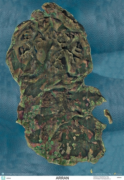 Isle Of Arran Aerial Wall Maps Amp Posters Global