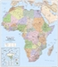 Africa Political Wall Map 1 to 8 million