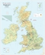 British Isles Physical Wall Map 1 to 1 Million