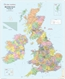 British Isles Political Wall Map 1 to 1.3 Million