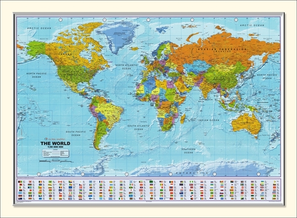 global mapping small political world framed map 1 to 60