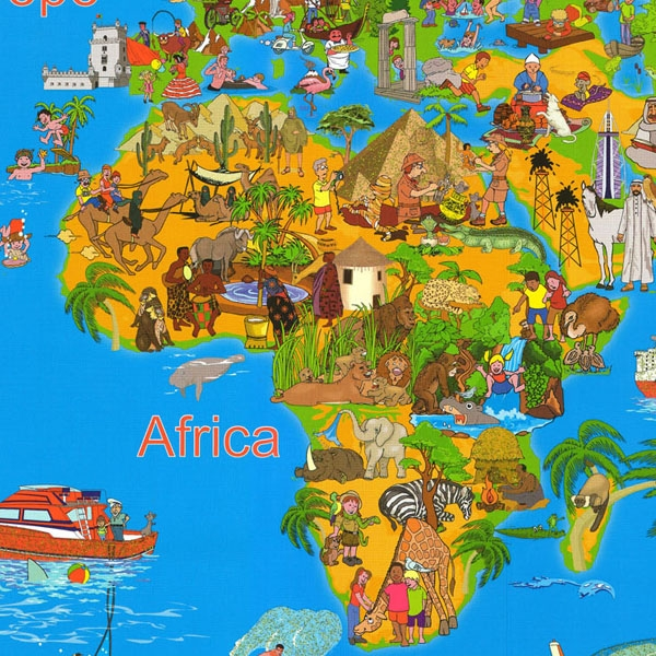 Our Amazing World Childrens Map Childrens Wall Maps - Childrens wall map