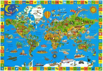 Our Amazing World Children S Map Children S Wall Maps