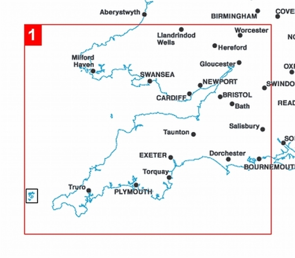 Map Of The South West Of England.1 South West England And South Wales District British Isles