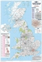 UK Postcode Area Wall Map