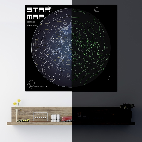 Glow in the dark star mapwall maps large world map posters glow in the dark star mapwall maps large world map posters maps international maps atlas travel guides gumiabroncs Gallery