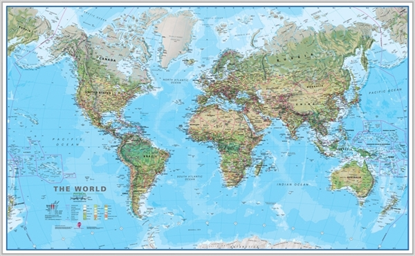 Framed Maps Wall Map Posters Large Framed Maps Of The World