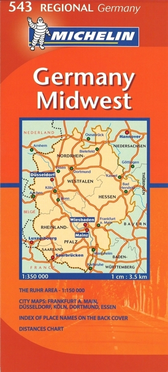 Michelin Map Of Germany.543 Midwest Germany Local Road Maps Germany Maps Atlas Travel