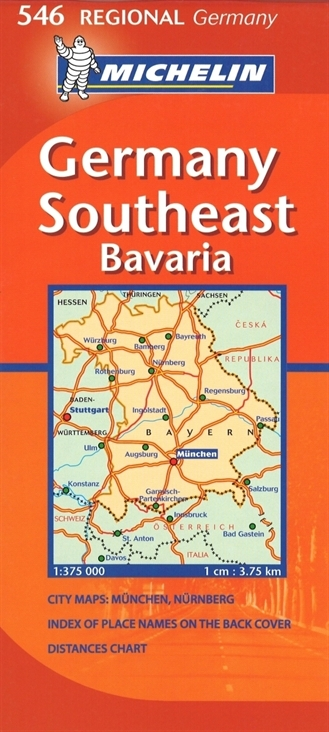 546 southeast germany bavaria local road maps germany maps atlas travel guides regional series maps michelin germany regional series maps