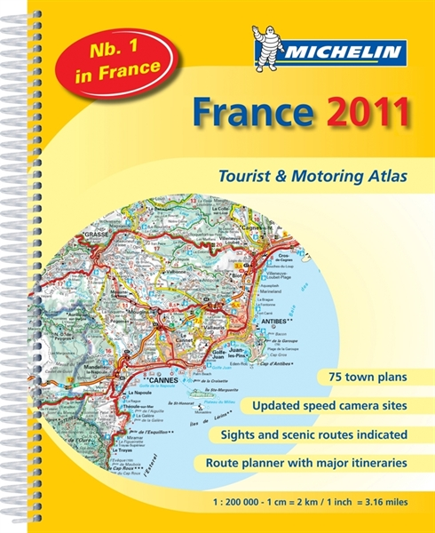 A4 Map Of France.197 France A4 Road Maps Uk Overseas Road Atlasmichelin Maps