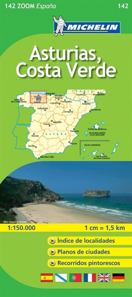 142 Asturias Costa Verde Local Road MapsMichelin Maps Michelin