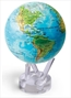 "MOVA Blue Relief Physical 4.5"" Globe"