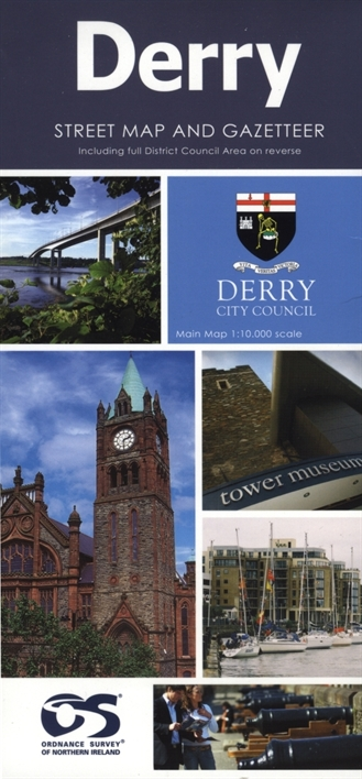 Derry Street Map and GazetteerTourist Maps Tour City Street Maps