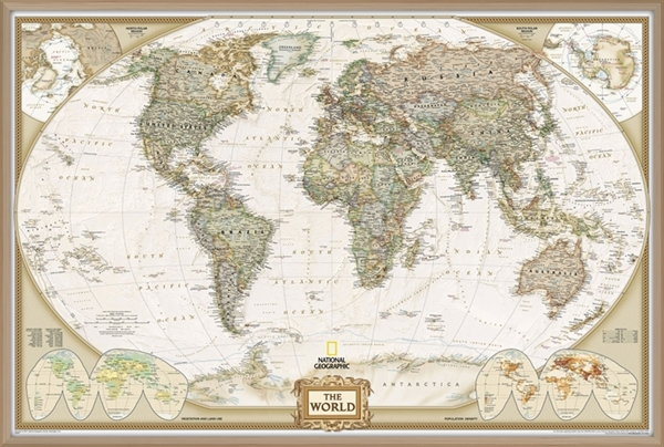 World pinboard map ng with wood framewall maps large world map world pinboard map ng with wood framewall maps large world map posters outstanding maps atlas travel guides gumiabroncs Image collections