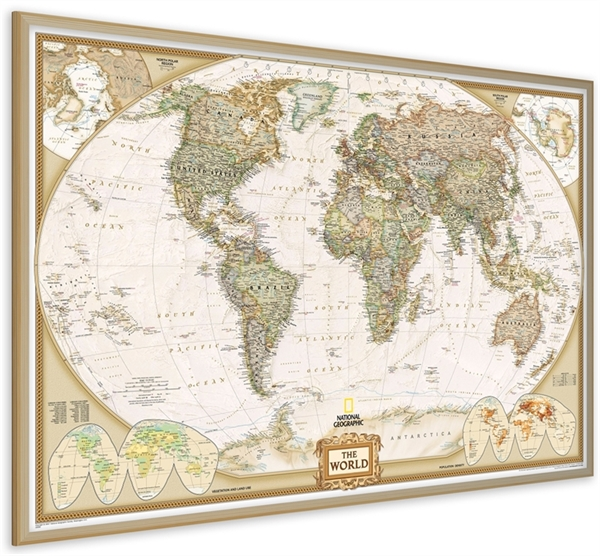 World pinboard map ng with wood framewall maps large world map world pinboard map ng with wood framewall maps large world map posters outstanding maps atlas travel guides gumiabroncs Choice Image