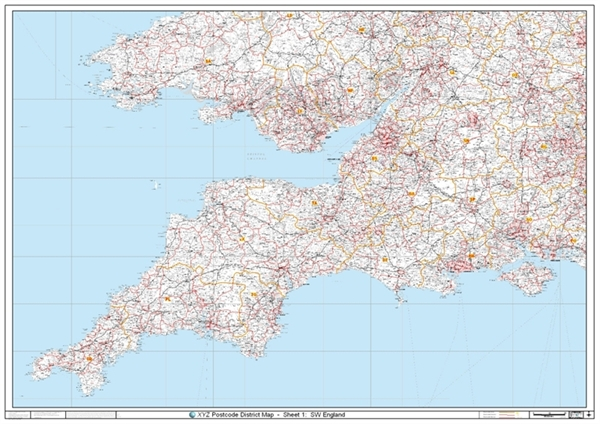 south west england postcode district map district. Black Bedroom Furniture Sets. Home Design Ideas