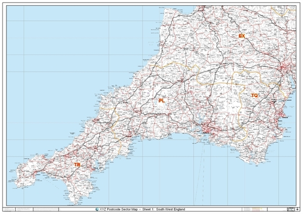 south west england postcode sector map sector british. Black Bedroom Furniture Sets. Home Design Ideas