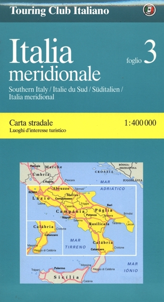 Road Map Of Southern Italy.3 Southern Italylocal Road Maps Tci Maps Atlas Travel Guides